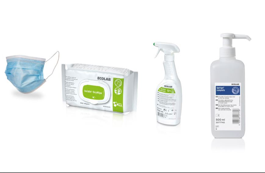 Items in het COVID startpakket.