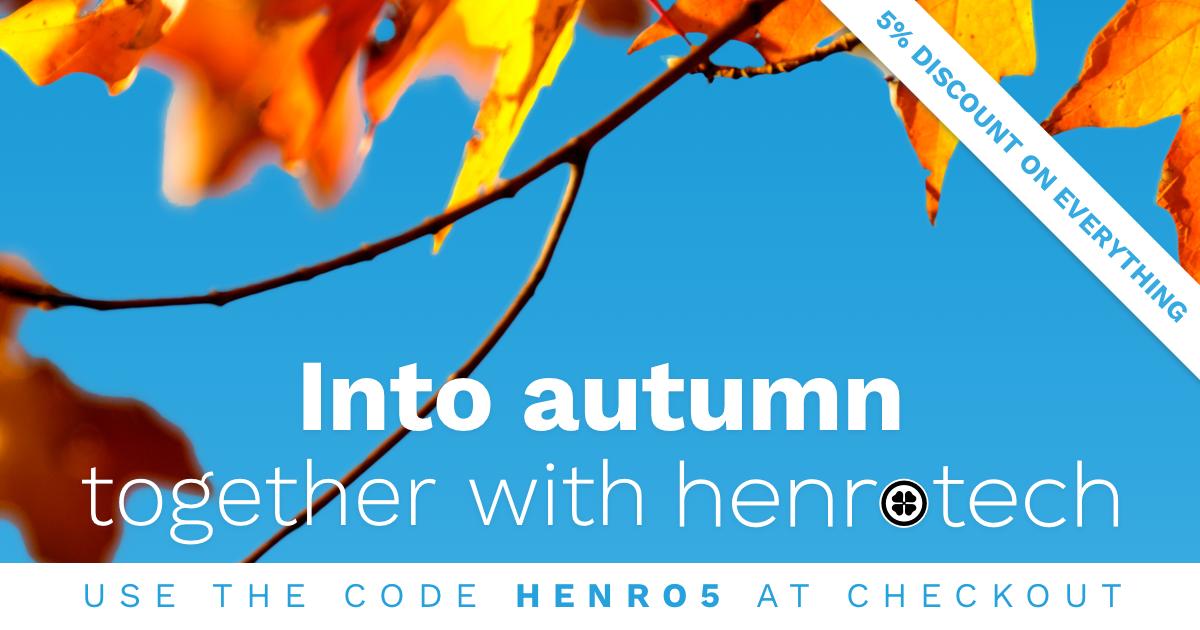 Henrotech autumn discount via the coupon code HENRO5