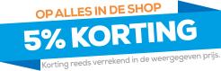 Promotie: 5% korting op alle producten tot 15 september