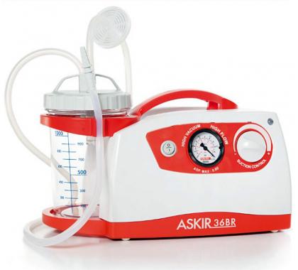 ASKIR36BR Aspiratietoestel met bokaal 1 liter