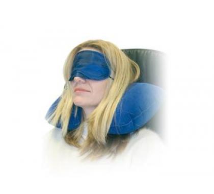 Comfortset (opblaasbaar kussen met masker en oordopjes)