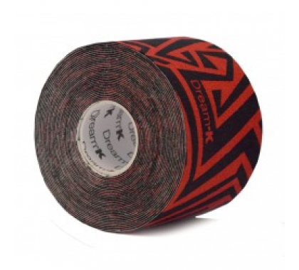Dream K Tribe 5 cm x 5 meter geel-rood. Dream K Tribe tape is een nieuwe latexvrije behandeltape voor uiteenlopende klachten. De Tribe tape heeft dezelfde werking als de gewone Dream K tape. Deze elastische tape is een anti-allergische latexvrije tape met